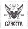 Gangster Monochrome Print vector image