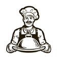 cook chef logo restaurant cafe or dish vector image