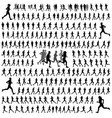 250 different runners silhouettes collection vector image vector image
