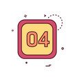 4 date calender icon design vector image vector image