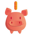 a smiling piggy bank on white background vector image
