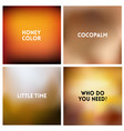 abstract brown blurred background set vector image vector image