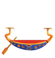 ancient egypt wooden boat for sun god trip vector image