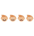 baby boy face set line different emotions crying vector image