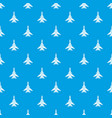 bomber pattern seamless blue vector image vector image