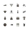 bowling - flat icons vector image vector image