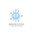 brain logo template brain tech brain icon vector image vector image