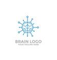 brain logo template tech icon vector image