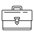 business case icon outline style vector image