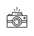 camera line icon photography logo digital camera vector image vector image