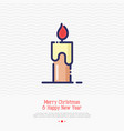 candle thin line icon simple vector image