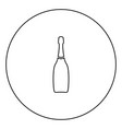 champagne black icon in circle outline vector image vector image