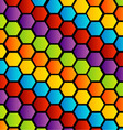 Colorful honey cell background vector image vector image