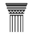 column black icon rome culture building element vector image