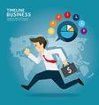 concept successful timeline businessman cartoon vector image vector image