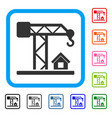 construction crane framed icon vector image