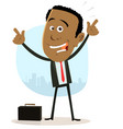cool happy african businessman vector image vector image