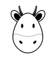 cow or bull face icon image vector image