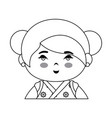 cute japanese girl icon vector image vector image