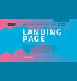 desktop landing page for web website template vector image