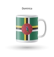 Dominica flag souvenir mug on white background vector image vector image