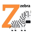 English animals zoo alphabet letter Z vector image vector image