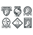 Fighting club mma lucha libre vintage vector image