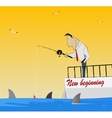 Fishing for Dollars vector image