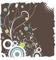 floral retro design vector image vector image