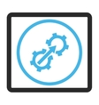 Gear Integration Framed Icon vector image vector image