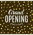 grand opening ceremony gold background golden dust vector image vector image