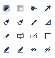 Graphic icons vector image