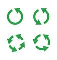 green reusable arrow icons eco recycle vector image vector image