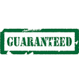 Guaranteed stamp vector image vector image