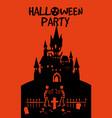 halloween holiday night party greeting card dark vector image vector image