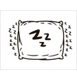 hand drawn pillow simple sketch vector image