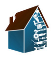 house and tools design vector image vector image
