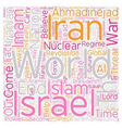 Iran Israel the th Imam text background wordcloud vector image vector image