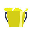 isolated bucket icon vector image vector image