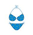 isolated summer bikini icon vector image vector image