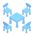 Isometric Children play room Interior furniture vector image