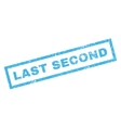 Last Second Rubber Stamp vector image vector image