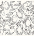lemons hand drawn seamless sketch pattern vector image vector image