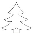 line art black and white fir tree vector image