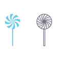 lollypop icons on isolated background vector image vector image