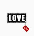 love you fashion patch vector image