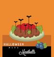 meatballs halloween menu vector image