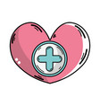 medicine symbol to help the people vector image vector image