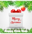 Merry christmas Gift white box with a red bow vector image