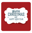 Merry christmas simple red vector image vector image